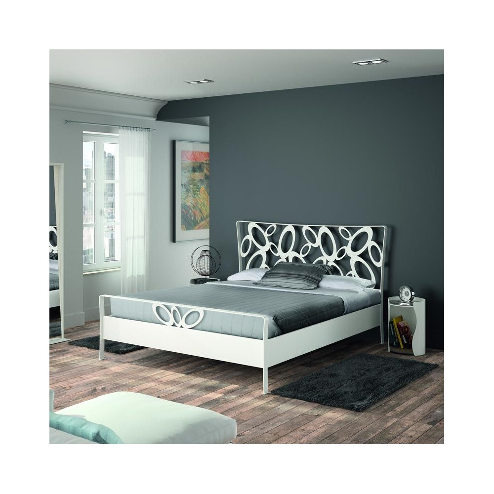 tete de lit en metal double. Black Bedroom Furniture Sets. Home Design Ideas