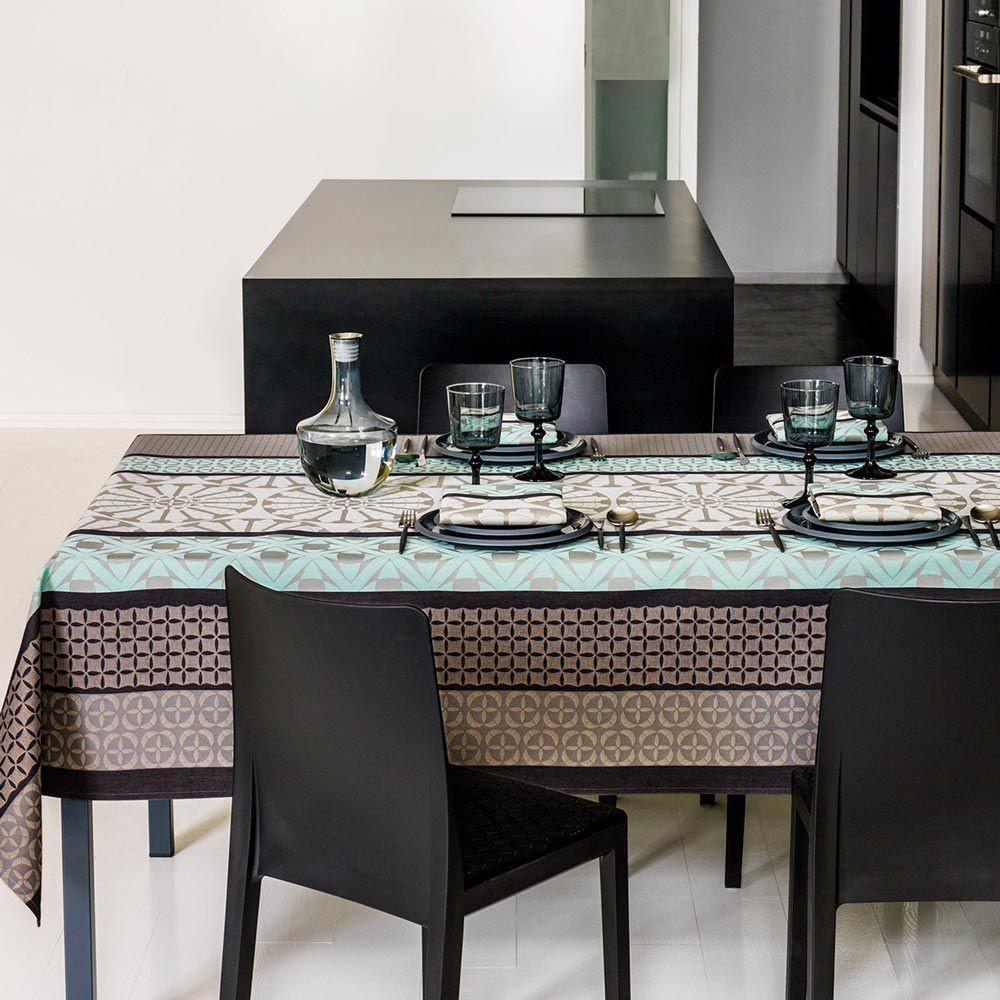nappe enduite bilbao jacquard coin. Black Bedroom Furniture Sets. Home Design Ideas