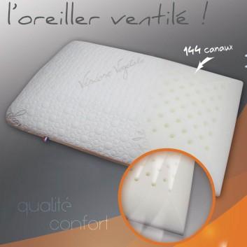 oreiller à mémoire de forme ventilé