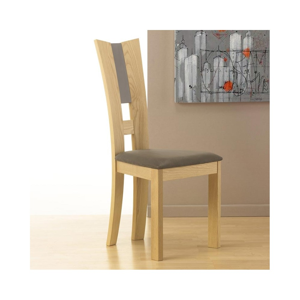 chaises contemporaines en bois table de lit