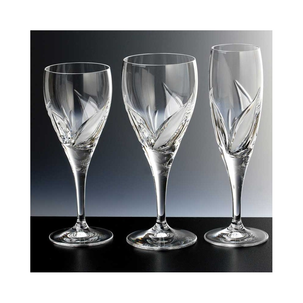 Verres en cristal x6 coin for Disposition des verres sur la table