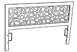 Tete de lit mosaic resistub