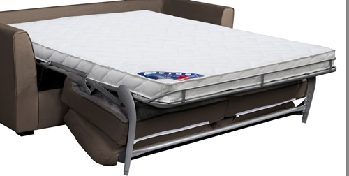 canapé convertible homespirit matelas grand confort