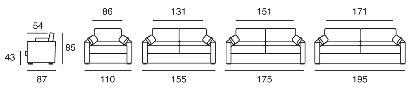 canapé osman dimensions