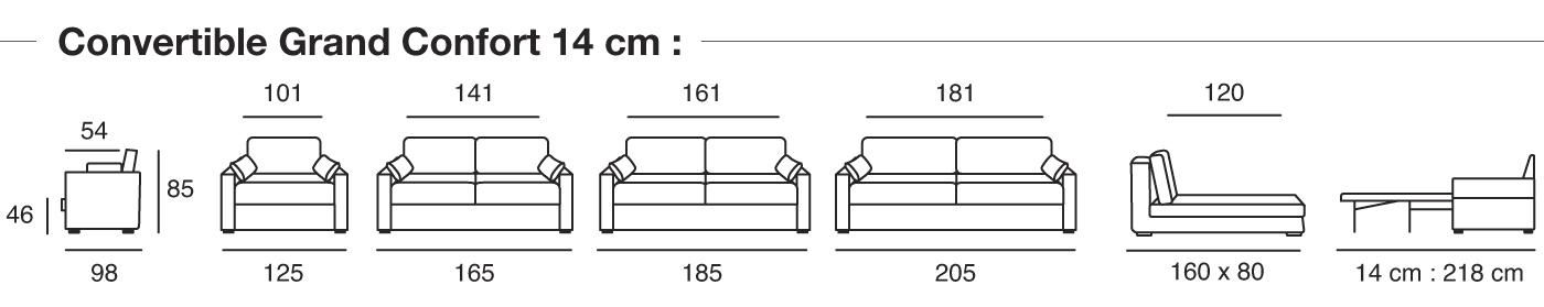 canapé convertible osman dimensions